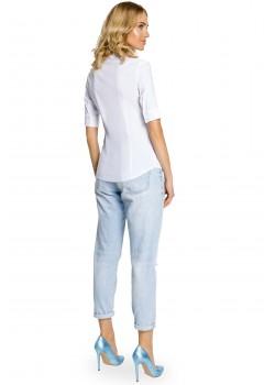 Класическа риза в бял цвят M027