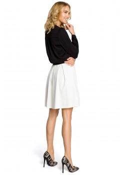 Елегантна пола с висока талия в цвят екрю M012