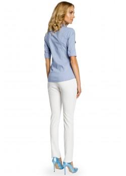 Класическа риза в син цвят M027