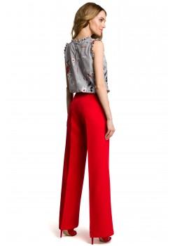 Дамски елегантен панталон в червен цвят M378