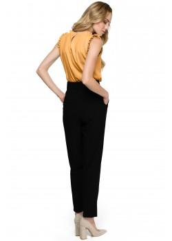 Класически панталон с висока талия в черен цвят S124