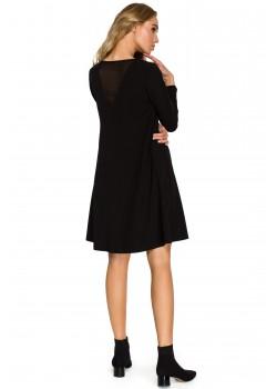 Трапецовидна рокля в черен цвят S137