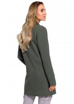 Дълго сако в тъмнозелен цвят M429