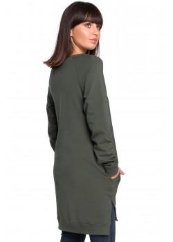 Дълга блуза в тъмнозелен цвят B101