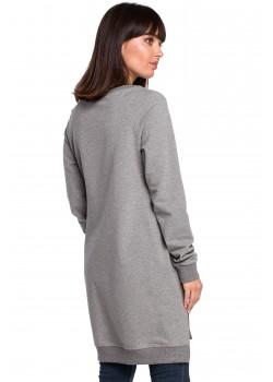 Дълга блуза в сив цвят B101