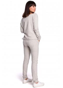 Ежедневен панталон в светлосив цвят B107