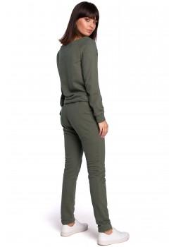 Ежедневен панталон в тъмнозелен цвят B107