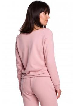 Спортна блуза в цвят пудра B108