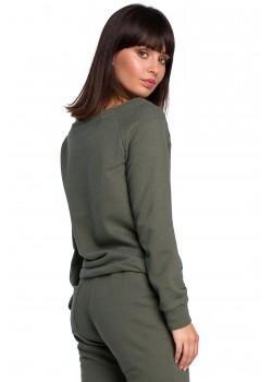 Спортна блуза в тъмнозелен цвят B108