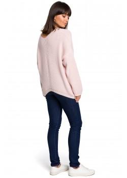Асиметричен пуловер в розов цвят BK026