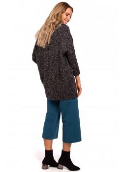 Пуловер в тъмносив меланж M470