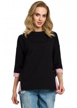 Асиметрична блуза в черен цвят M386