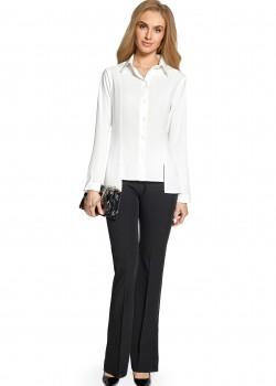 Асиметрична риза в бял цвят S090