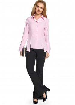 Асиметрична риза в розов цвят S090