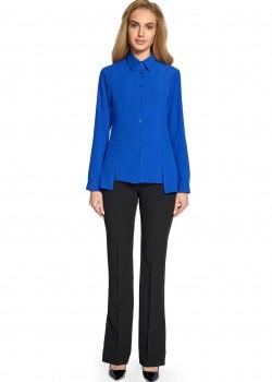 Асиметрична риза в син цвят S090