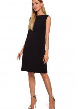 Черна рокля с V-образен гръб M490