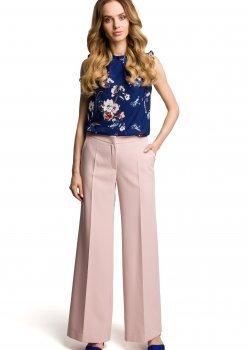 Дамски елегантен панталон в пудра цвят M378