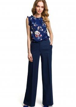 Дамски елегантен панталон в тъмносин цвят M378