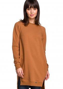 Дълга блуза в цвят карамел B101