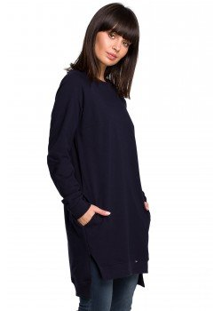 Дълга блуза в тъмносин цвят B101