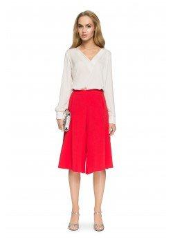 Елегантна блуза в бежов цвят S035