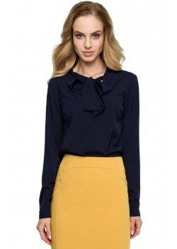 Елегантна блуза в тъмносин цвят S130