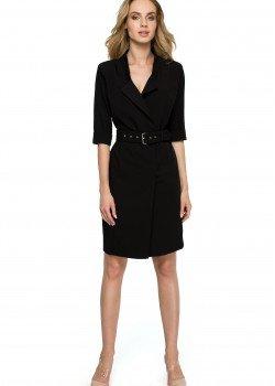 Елегантна къса рокля в черен цвят S120