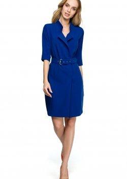 Елегантна къса рокля в син цвят S120