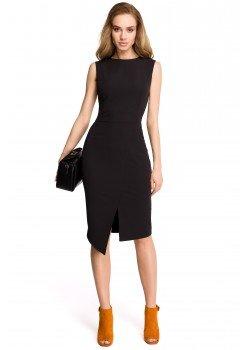 Елегантна миди рокля в черен цвят S105