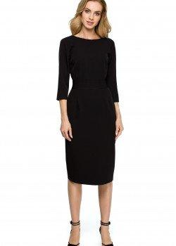 Елегантна миди рокля в черен цвят S119