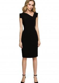 Елегантна миди рокля в черен цвят S121