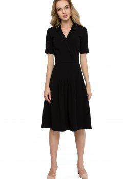 Елегантна миди рокля в черен цвят S122