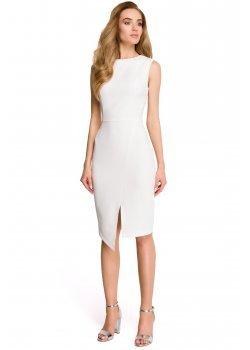 Елегантна миди рокля в цвят екрю S105