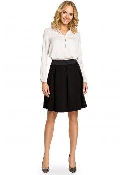Елегантна пола с висока талия в черен цвят M012