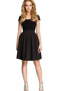 Елегантна пола с висока талия в черен цвят M237