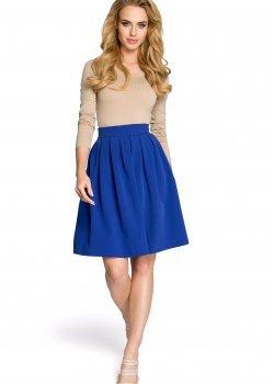 Елегантна пола с висока талия в син цвят M237