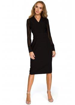 Елегантна рокля в черен цвят S136