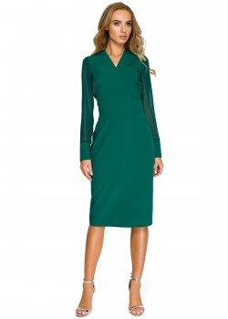 Елегантна рокля в зелен цвят S136