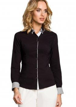 Елегантна риза в черен цвят M067