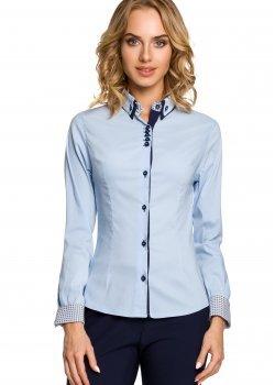 Елегантна риза в светлосин цвят M067