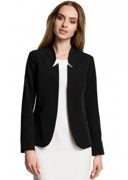 Елегантно сако с ефектна яка в черен цвят M358