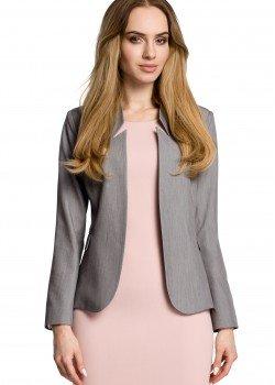 Елегантно сако с ефектна яка в сив цвят M358