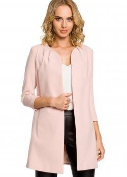 Елегантно сако в цвят пудра M193