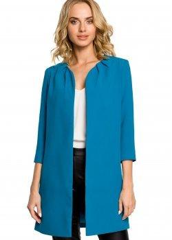 Елегантно сако в цвят тюркоаз M193