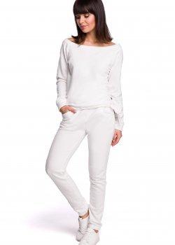 Ежедневен панталон в цвят екрю B107