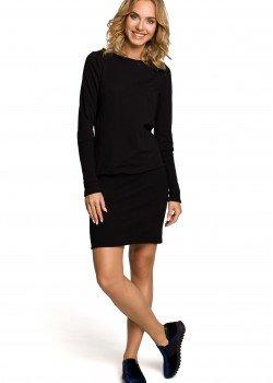 Ежедневна мини рокля в черно M143