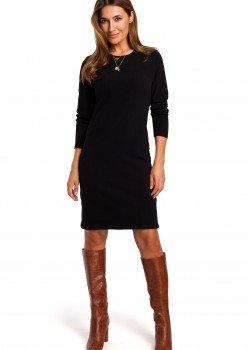 Класическа рокля в черен цвят S178