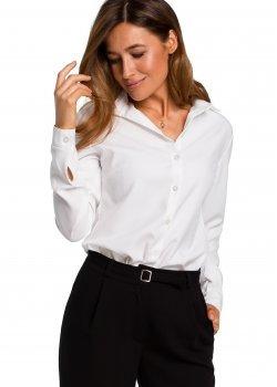 Класическа риза в бял цвят S192