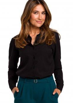 Класическа риза в черен цвят S192