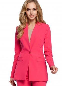 Класическо сако без яка в розов цвят M304